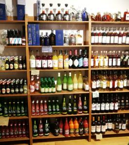 drinks in the farm shop