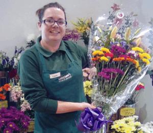 Laura the florist at Barleymows Chard