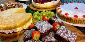 A choice of lovely cakes