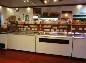 Freezer section at Barleymows Farm Shop
