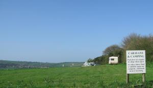 Campsite at Barleymows near Chard
