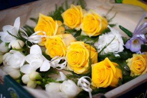 Yellow roses, Barleymows, Chard