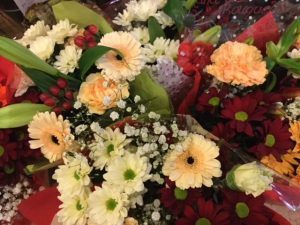 Bunches of flowers